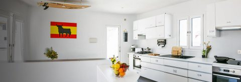 Our kitchen with all modern amenities for you to use