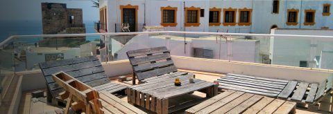 Sitting area on the roof top terrace